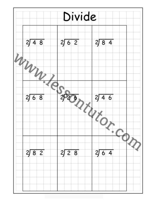 small resolution of Division Worksheets - Lesson Tutor