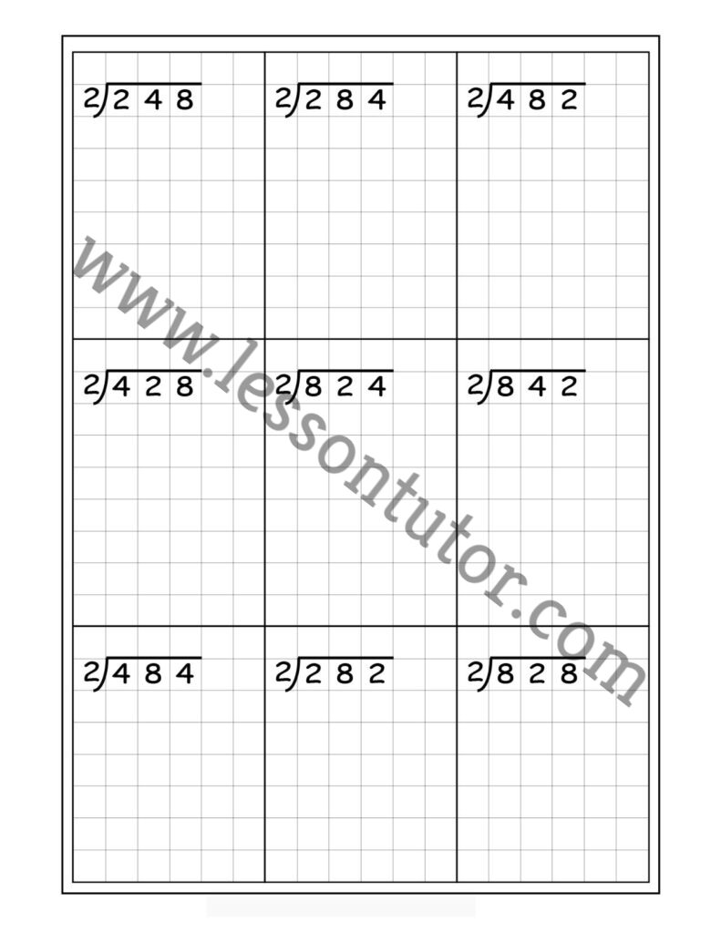 hight resolution of Division Worksheets - Lesson Tutor