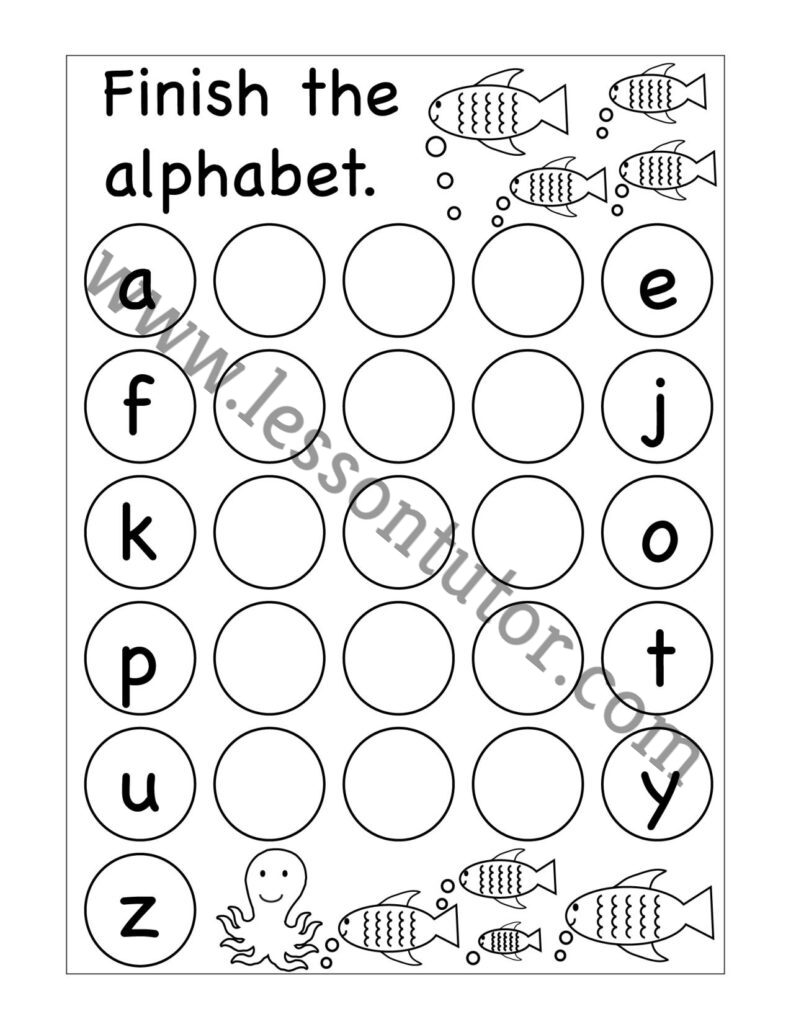 Missing Lowercase Letters Worksheet Kindergarten 4