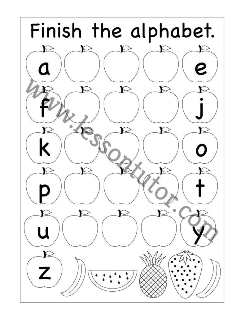 Missing Lowercase Letters Worksheet Kindergarten 5