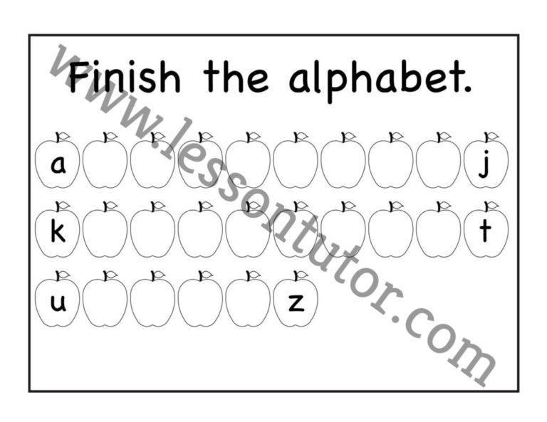 Missing Lowercase Letters Worksheet Kindergarten 7