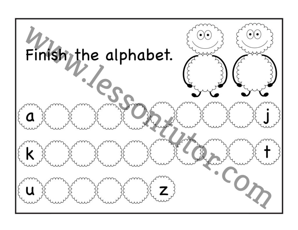 Missing Lowercase Letters Worksheet Kindergarten 8