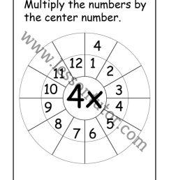 Multiplication Target Circles – 4 [ 1024 x 791 Pixel ]