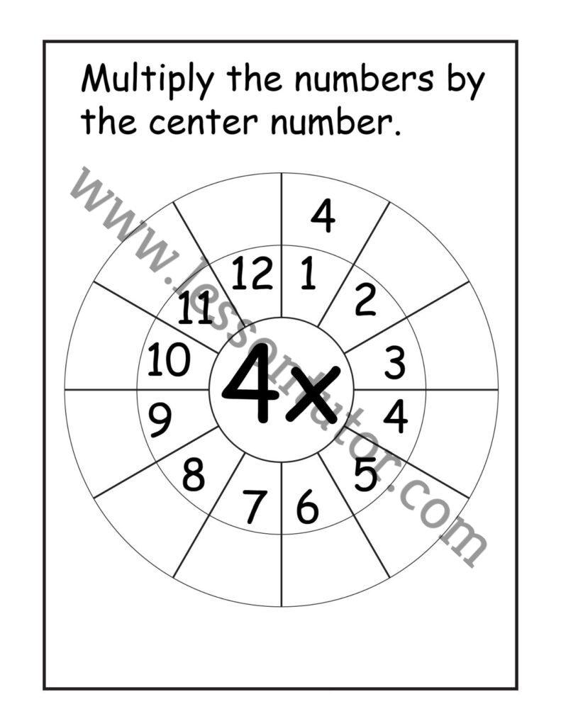 medium resolution of Multiplication Target Circles – 4