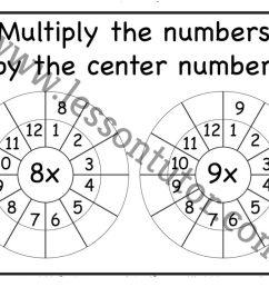 Multiplication Target Circles – 8 [ 791 x 1024 Pixel ]
