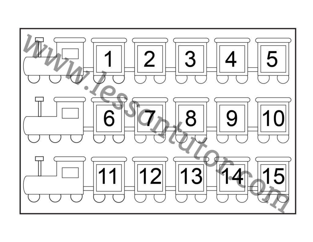 hight resolution of Number Chart – 1-15 Worksheet Kindergarten - 4 - Lesson Tutor