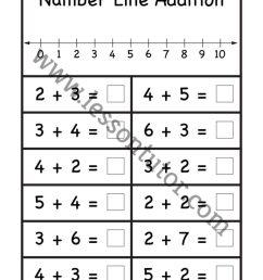 Number Line Addition Worksheet 1st Grade - Lesson Tutor [ 1024 x 791 Pixel ]