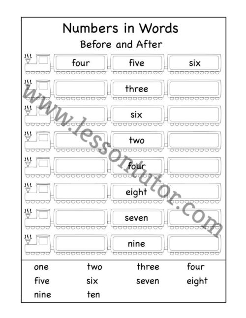 small resolution of Number Worksheets - Lesson Tutor