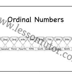 Ordinal Numbers Worksheet First Grade - 4 - Lesson Tutor [ 791 x 1024 Pixel ]