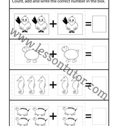 Picture Addition Worksheet Kindergarten - 24 - Lesson Tutor [ 1024 x 791 Pixel ]