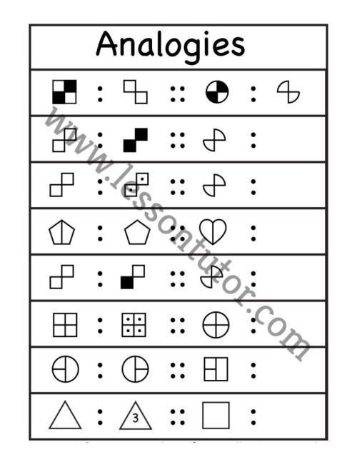 small resolution of Picture Analogies Worksheet 1st Grade - 5 - Lesson Tutor