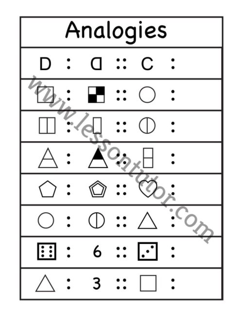 small resolution of Picture Analogies Worksheet 1st Grade - 7 - Lesson Tutor