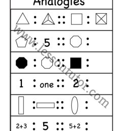 Analogy Worksheets - Lesson Tutor [ 1024 x 791 Pixel ]