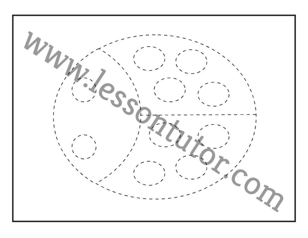 Picture Tracing Ladybug Worksheet Kindergarten
