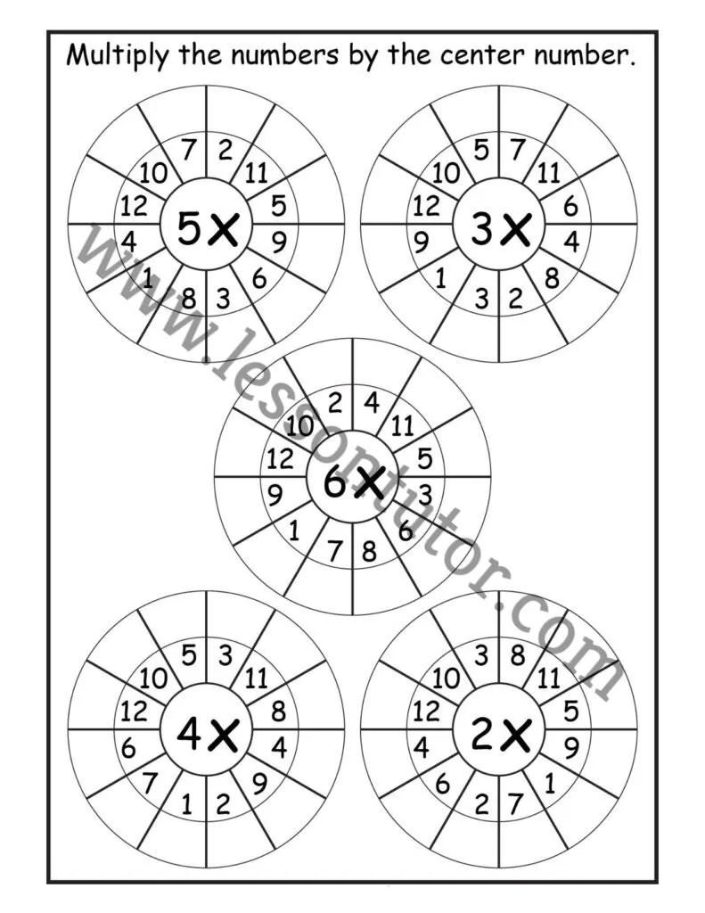 medium resolution of Random Order – Randomly Shuffled – Times Table Shuffled in Random Order – Multiplication  Worksheets – Multiply by 1