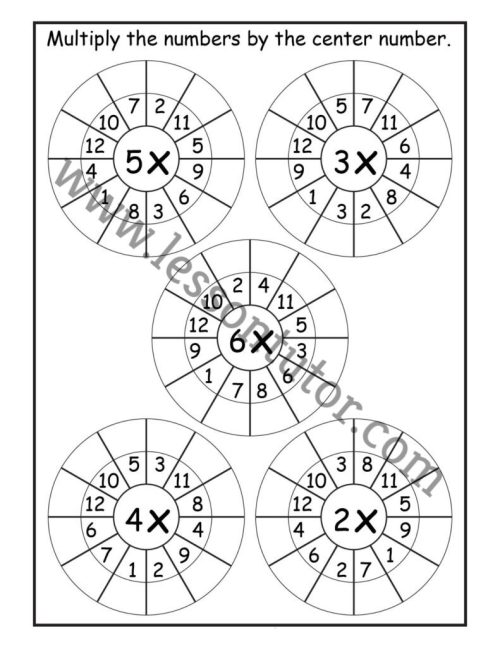small resolution of Random Order – Randomly Shuffled – Times Table Shuffled in Random Order – Multiplication  Worksheets – Multiply by 1