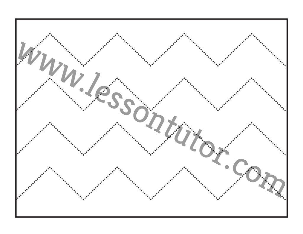 Scissor Cutting Skills Tracing Worksheet Kindergarten