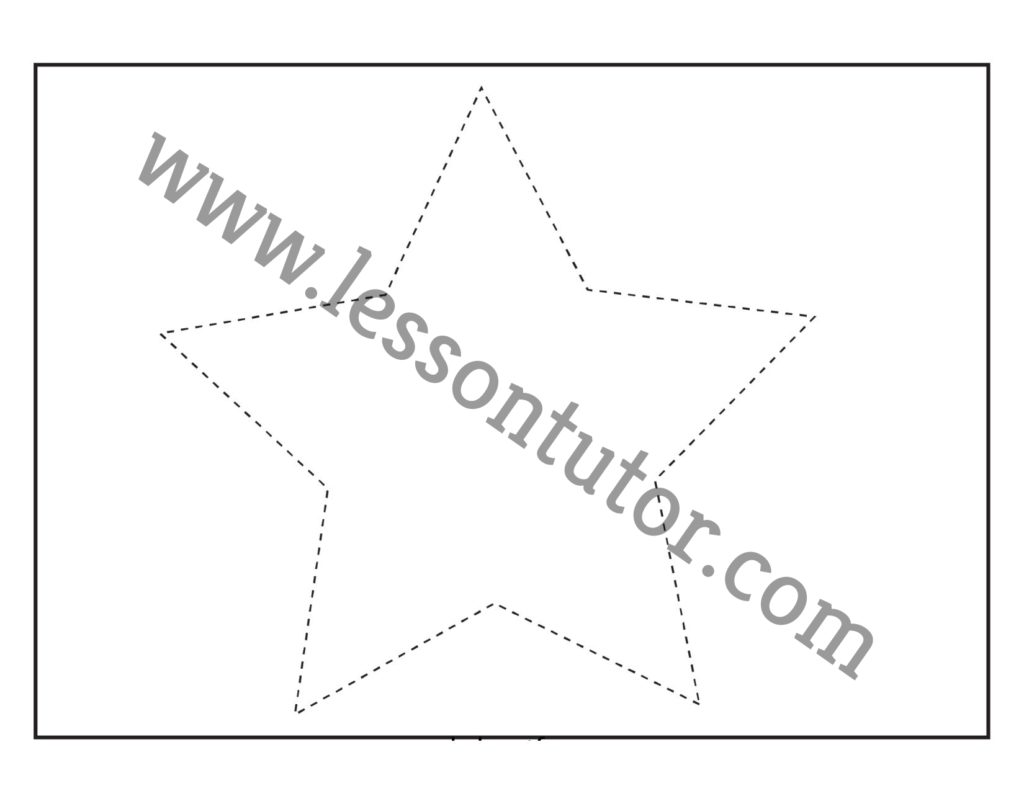 Shape Tracing Star Worksheet Preschool