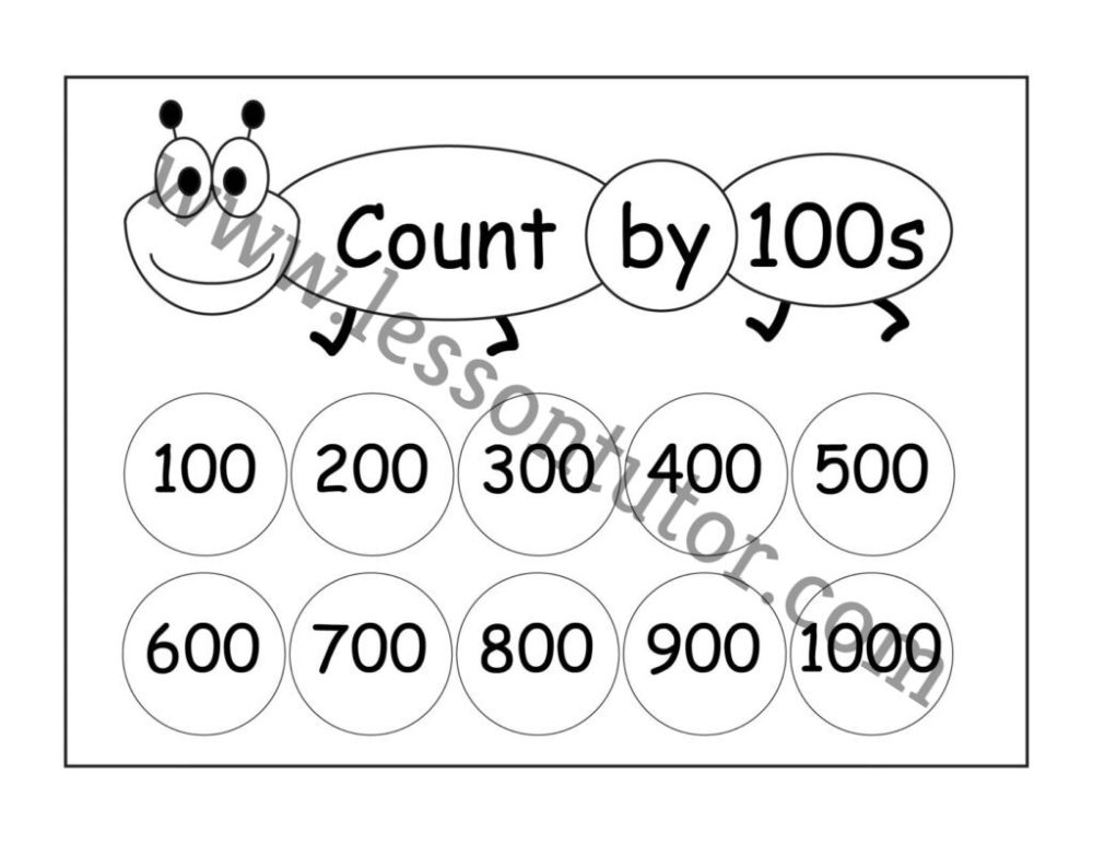 medium resolution of Skip Counting by 100s – 3 Worksheets Second Grade - Lesson Tutor