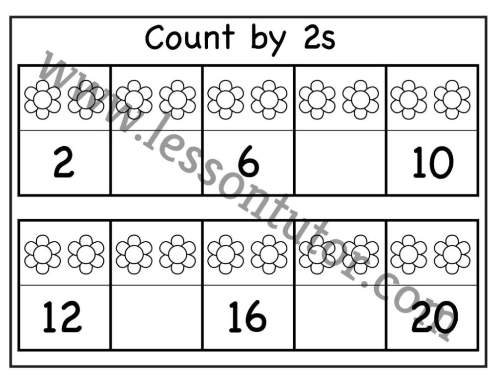 medium resolution of Skip Counting by 2 – Three Worksheet Kindergarten - Lesson Tutor