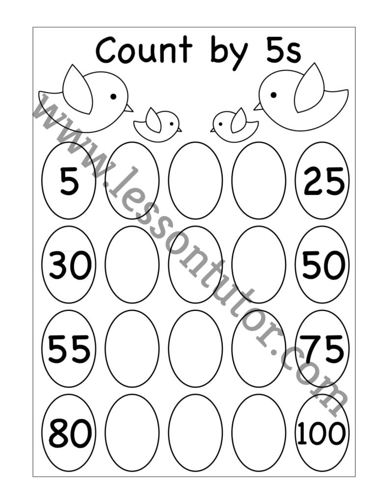 medium resolution of Skip Counting by 5 Worksheet First Grade - Lesson Tutor