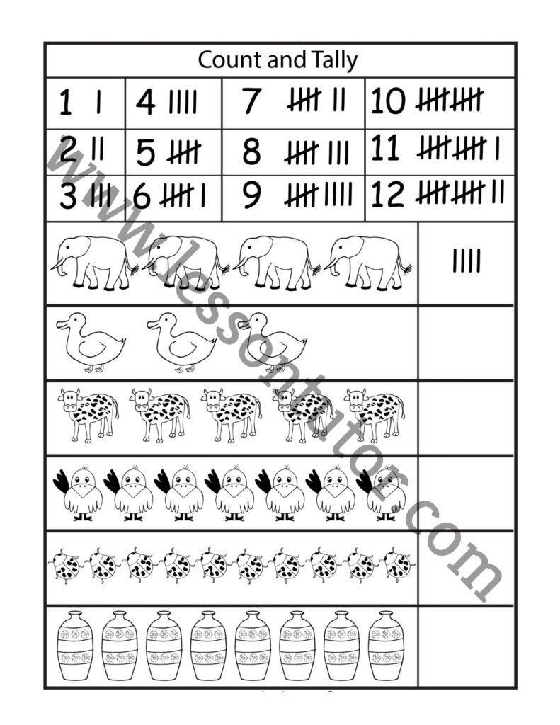 medium resolution of Tally Marks Worksheet First Grade - Lesson Tutor