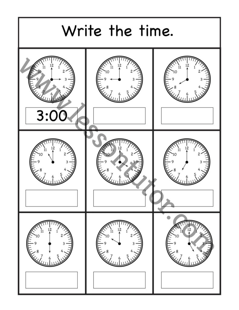 hight resolution of 1st Grade Worksheets- Page 3 of 31 - Lesson Tutor