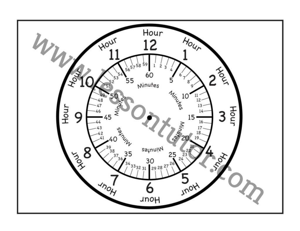Time Printable Clock Face 3 Worksheets First Grade