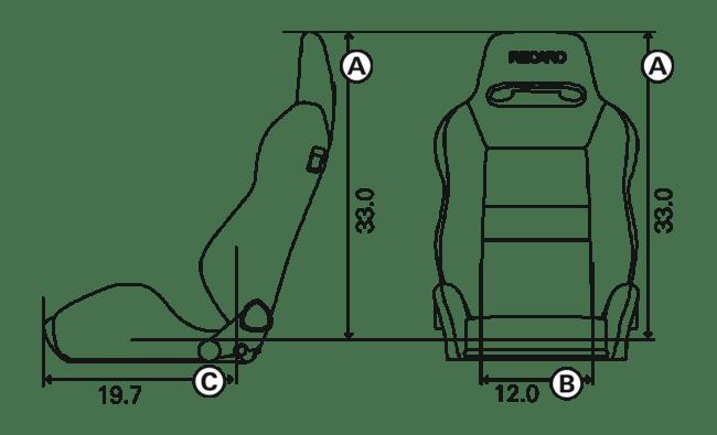 Recaro Speed V Driver Seat (7227110.1.3169, 7227110.1.3170