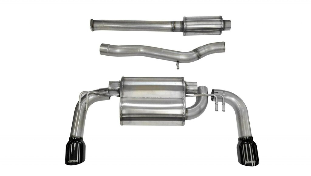 Corsa 14858BLK 3.0 Inch Cat-Back Sport Dual Rear Exhaust 4