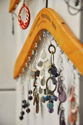Cintre à bijoux DIY