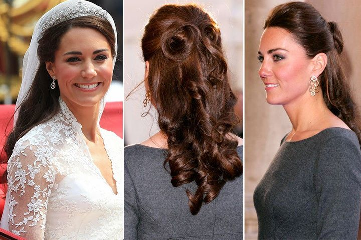Gaya rambut Kate Middleton: The Demi-Chignon.