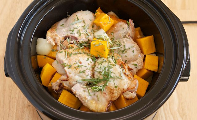 Brown Rice and Chicken in a Crock-pot