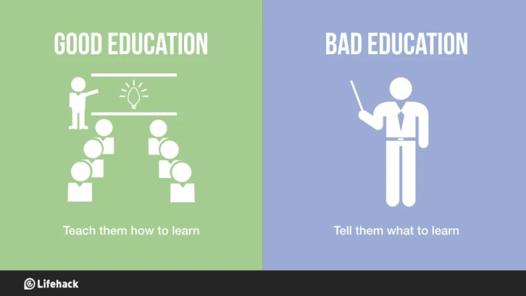 Image result for good vs bad education