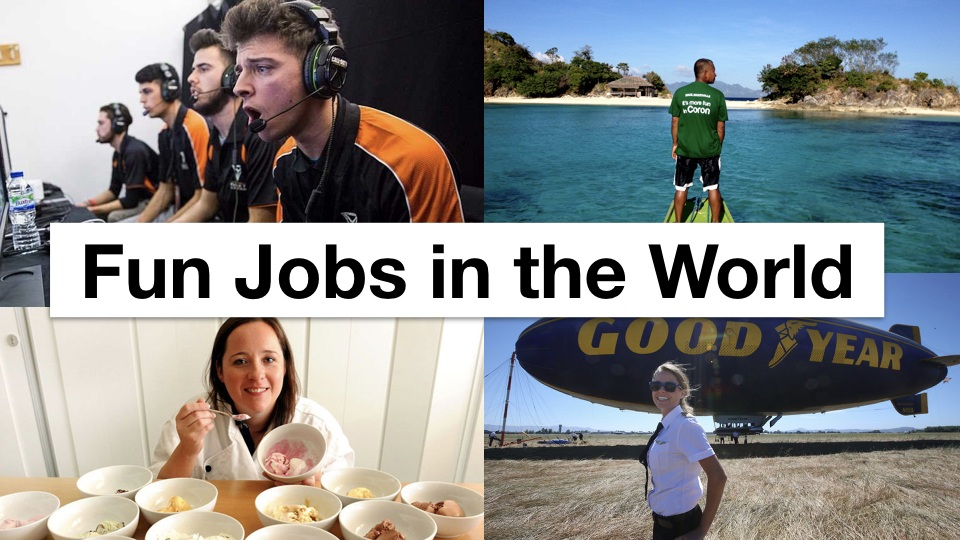 fun careers that pay well