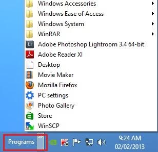 Programmer-verktøylinjen.