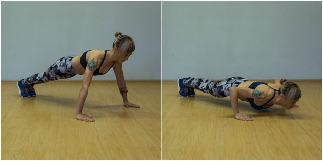 Domestic training program: push-ups with wide hand set