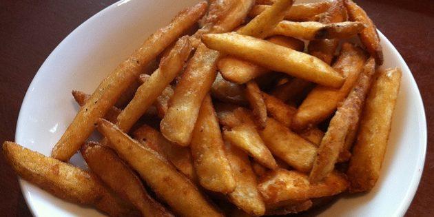 Frytki z receptur ziemniaków w Klyar