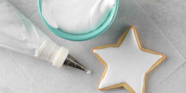 Как сделать белковую глазурь для новогоднего печенья
