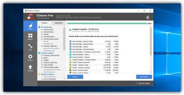 Comment effacer le disque dans Windows: supprimer des fichiers temporaires tiers.