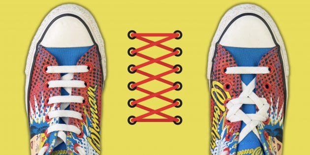 15 необычных способов зашнуровать кроссовки