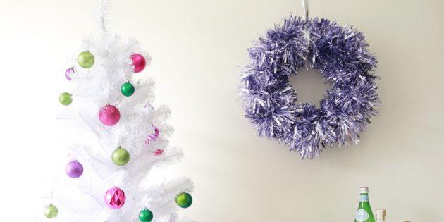 La ghirlanda di Capodanno fai da te: Ghirlande di Capodanno da Tinsel