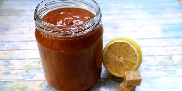 Кисло-сладкий соус c апельсиновым соком и вином