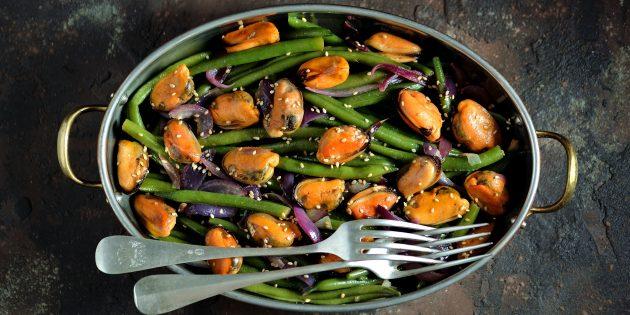 Πώς να προετοιμάσετε ένα φασόλι Pillage: Σαλάτα με φασόλια, μύδια και σφραγίδα αερίου σόγιας