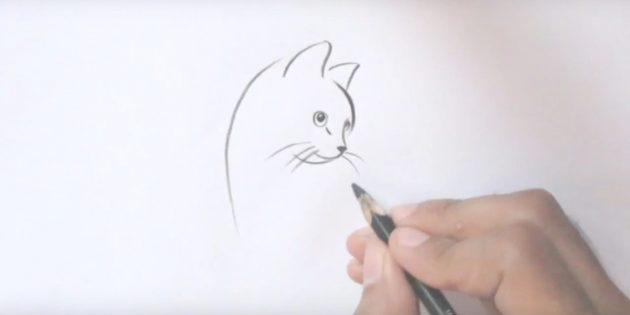Rajzoljon egy macska hosszú bajuszt