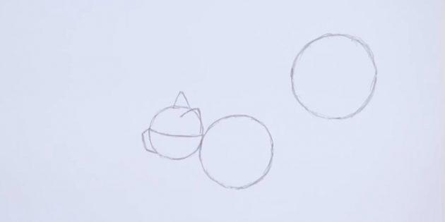 Жоғарыдағы оң жақта алдыңғы шеңберден гөрі үлкен шеңбер бейнеленген
