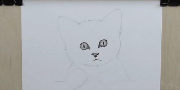 Badly Circle Eye Contours, Jelölje meg a káprázás és a tanulók rajzolása