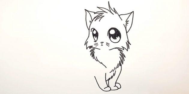 Hogyan kell felhívni egy anime macskát: az alábbi jobb oldalon, hogy felhívja a lábát a hátsó lábszár