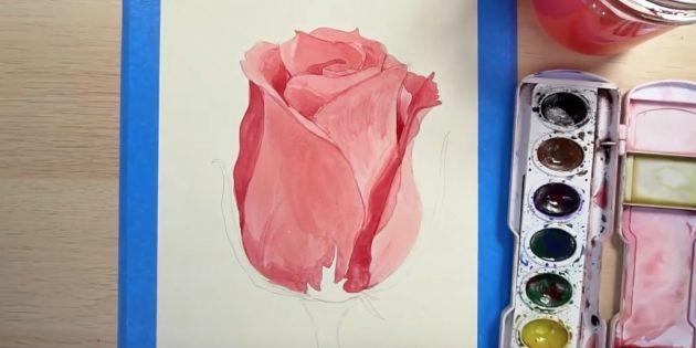 Добавьте цветку тени и объём