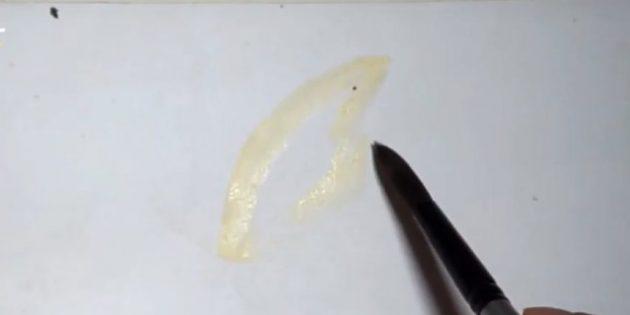 Light yellow butterfly beetle